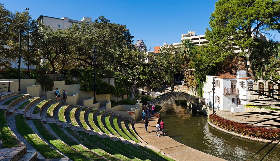 Arneson River Theater on River Walk in downtown San Antonio, Texas