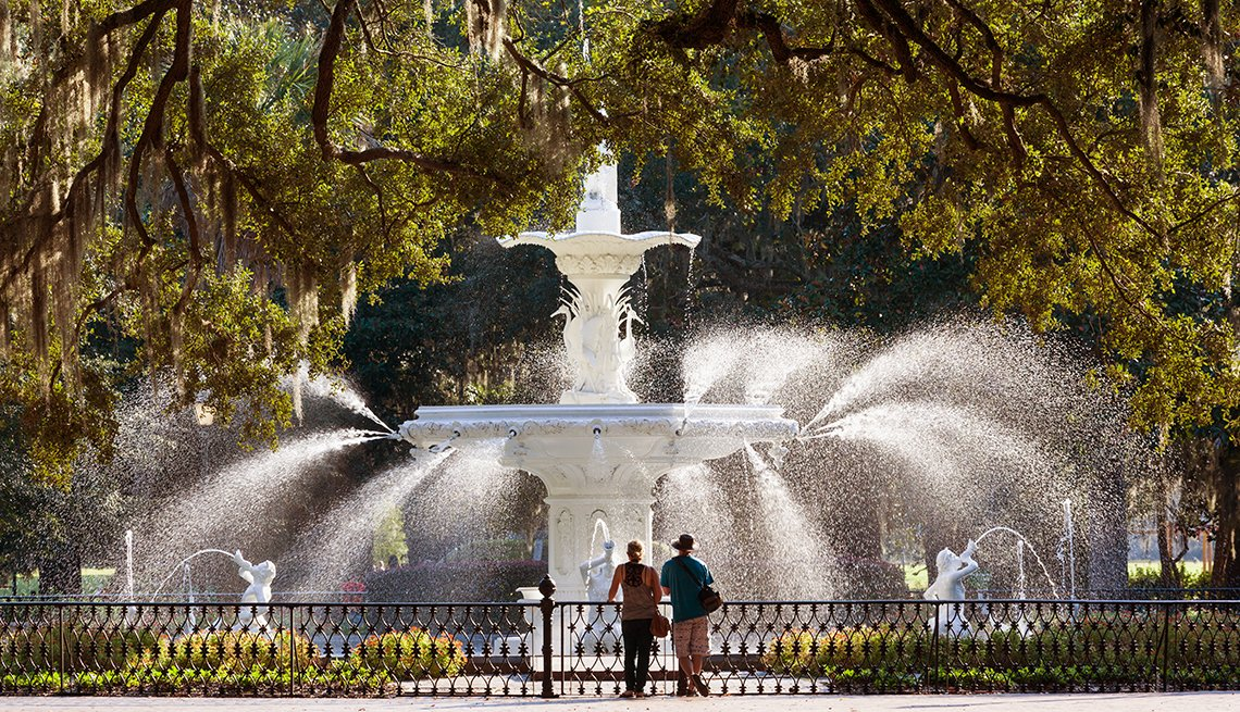 Savannah Forsyth Park Water Fountain
