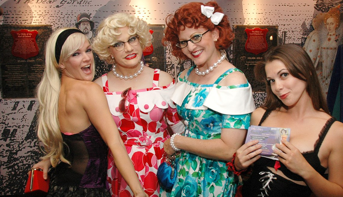 women attend the Orlando Fringe Festival