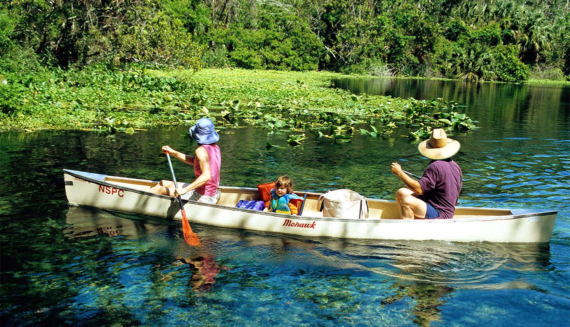 item 3 of Gallery image - Canoeists on Wekiwa River