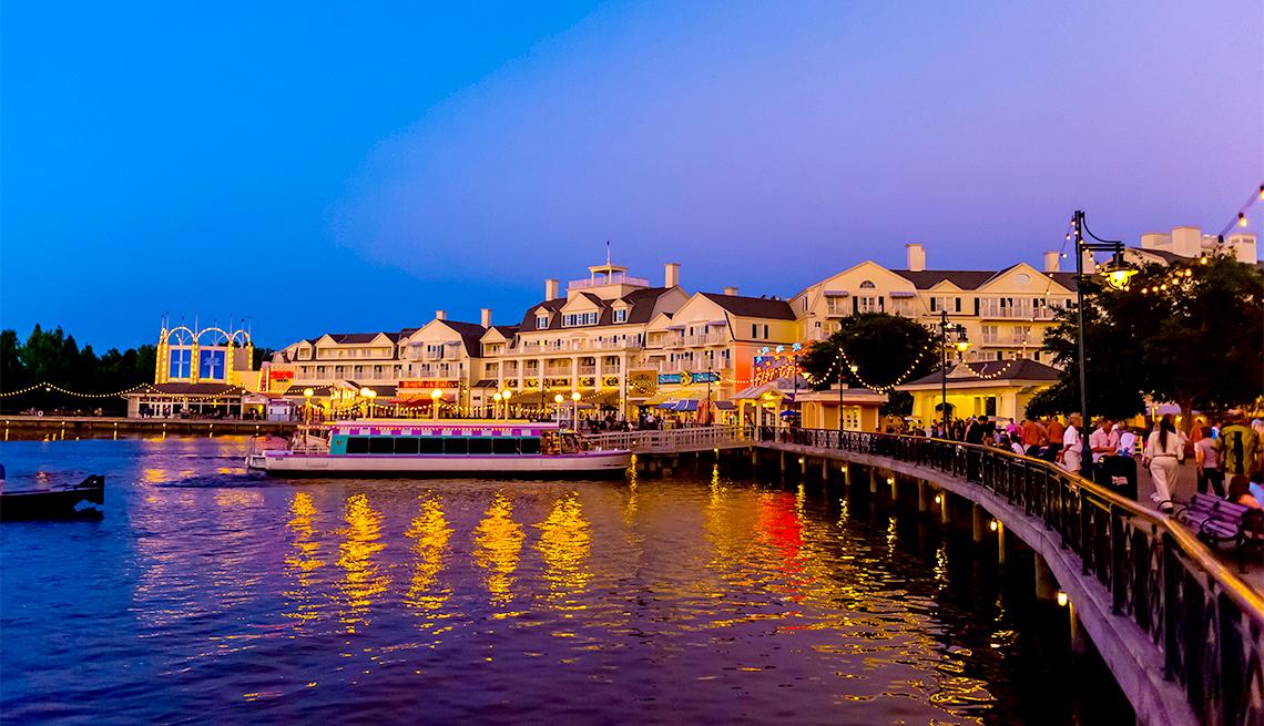 item 5 of Gallery image - Disney's Board Walk at twilight, Walt Disney World, Orlando, Florida USA