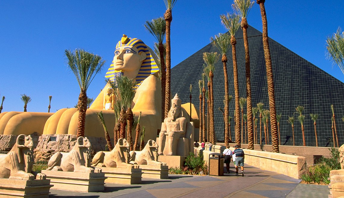 Sphinx and Pyramid at Luxor Hotel and Casino