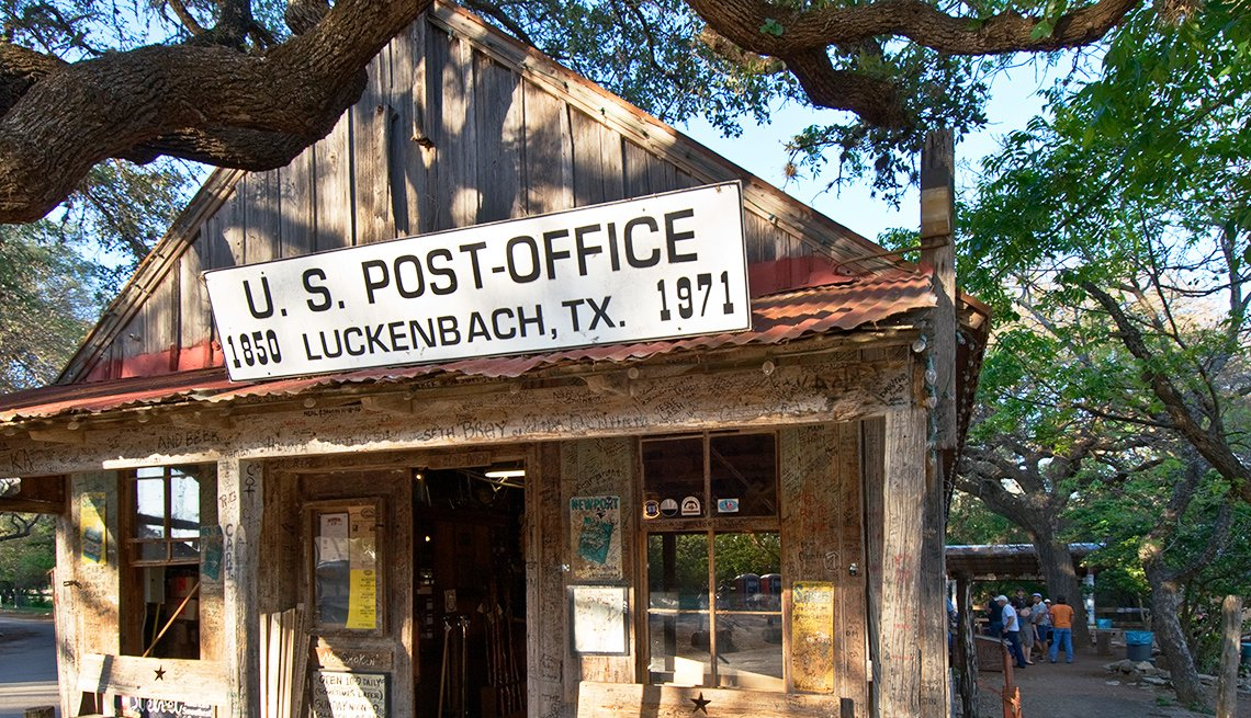 Luckenbach Texas Post Office