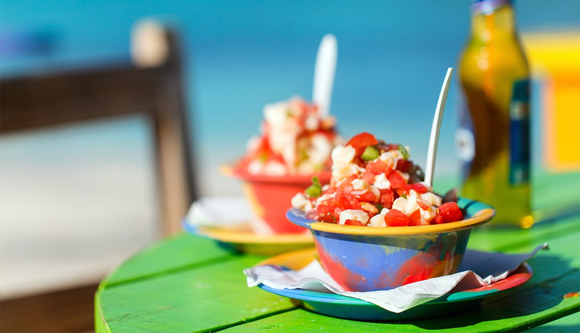Two bowls of Bahamian conch salad