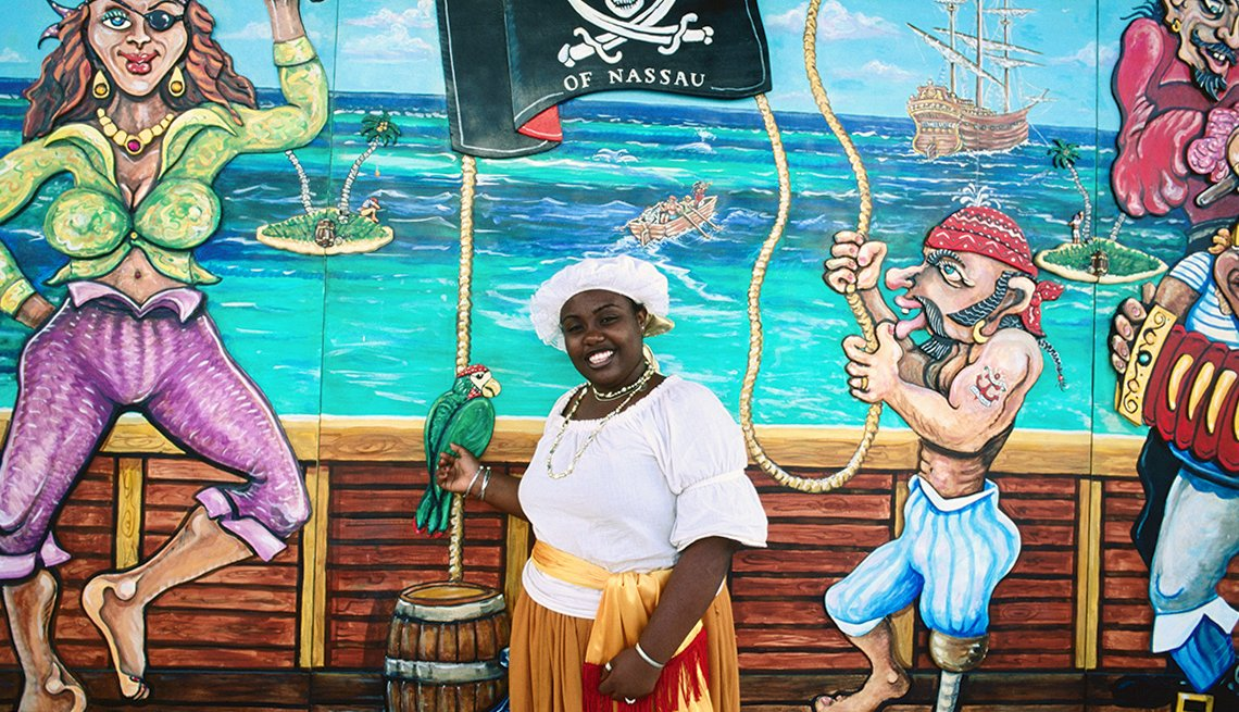 item 6 of Gallery image - Costume guide at Pirates of Nassau Museum.