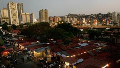 El centro de la cuidad de Caracas