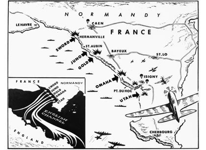 Normandy map