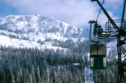 Ski lift overlooking the Sugar Bowl Ski Resort
