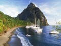 Frommer's 5 top carribean cruises St. Lucia petit piton and boats