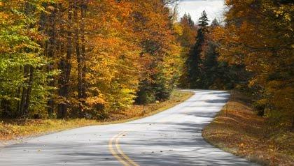 5 paisajes de otoño en Nueva Inglaterra - Una vista del White Mountains National Forest