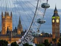 London's top sights: the London Eye, Big Ben and Westminster Palace