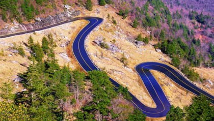 Curved Road on Grandfather Mountain