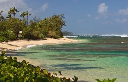 Mokuleia Beach en Oahu, Hawai. Destinos donde se filmaron programas de televisión populares.