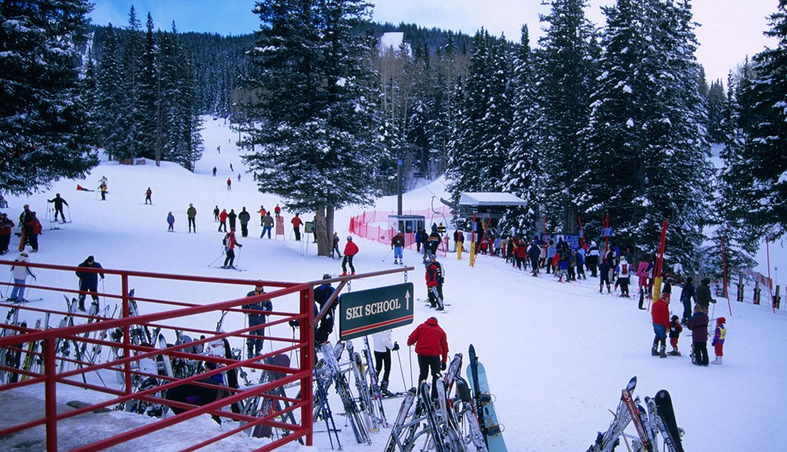 Skiers take to the slopes at Santa Fe Ski Area, cities for outdoor fun