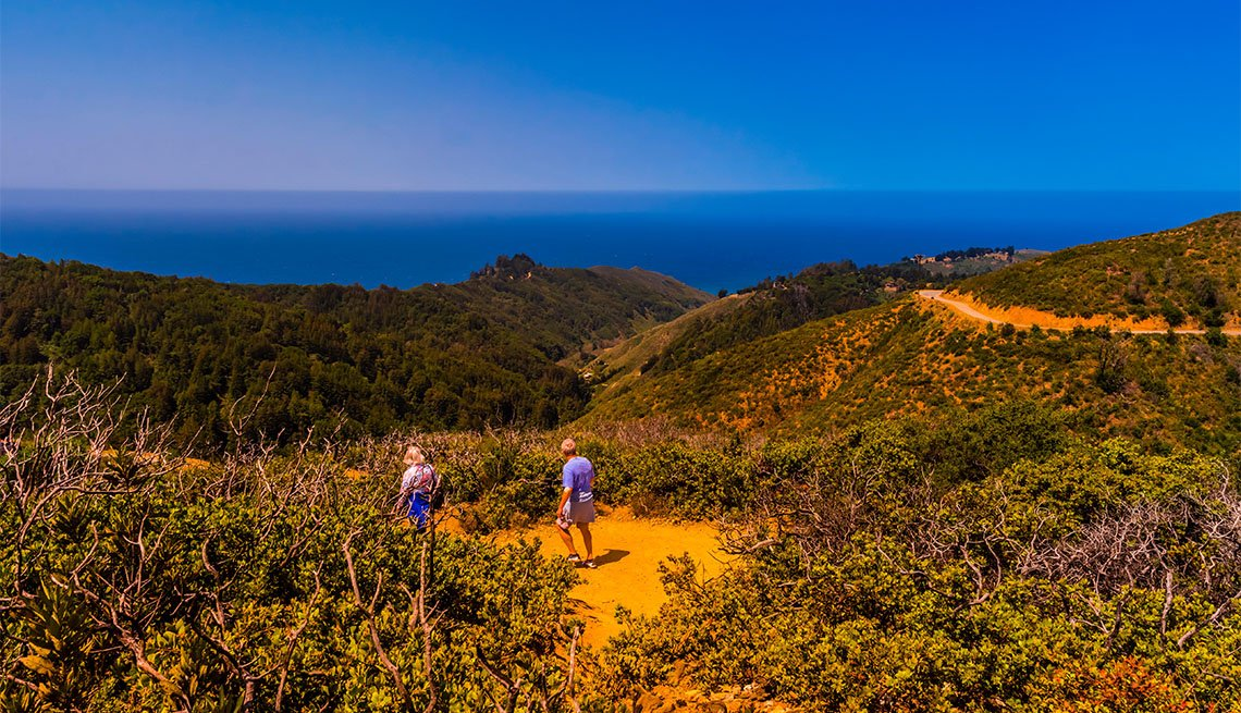 item 2 of Gallery image - Hiking on the Buzzards Roost trail, near Pfeiffer Big Sur State Park