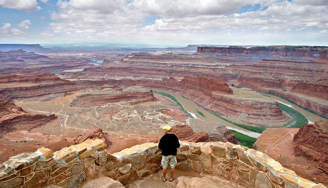 item 4 of Gallery image - Tourist at Dead Horse Point State Park
