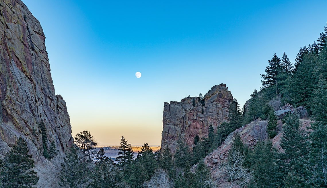 item 5 of Gallery image - Moon rising over Eldorado Canyon State Park