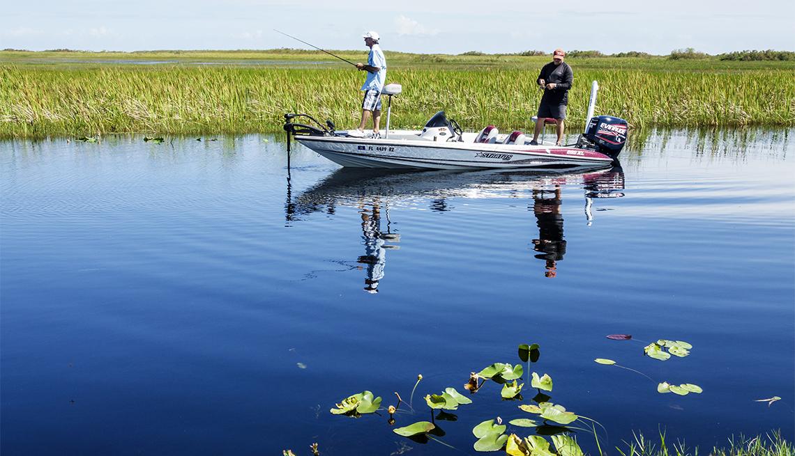 Pescadores en el Parque Nacional Everglades