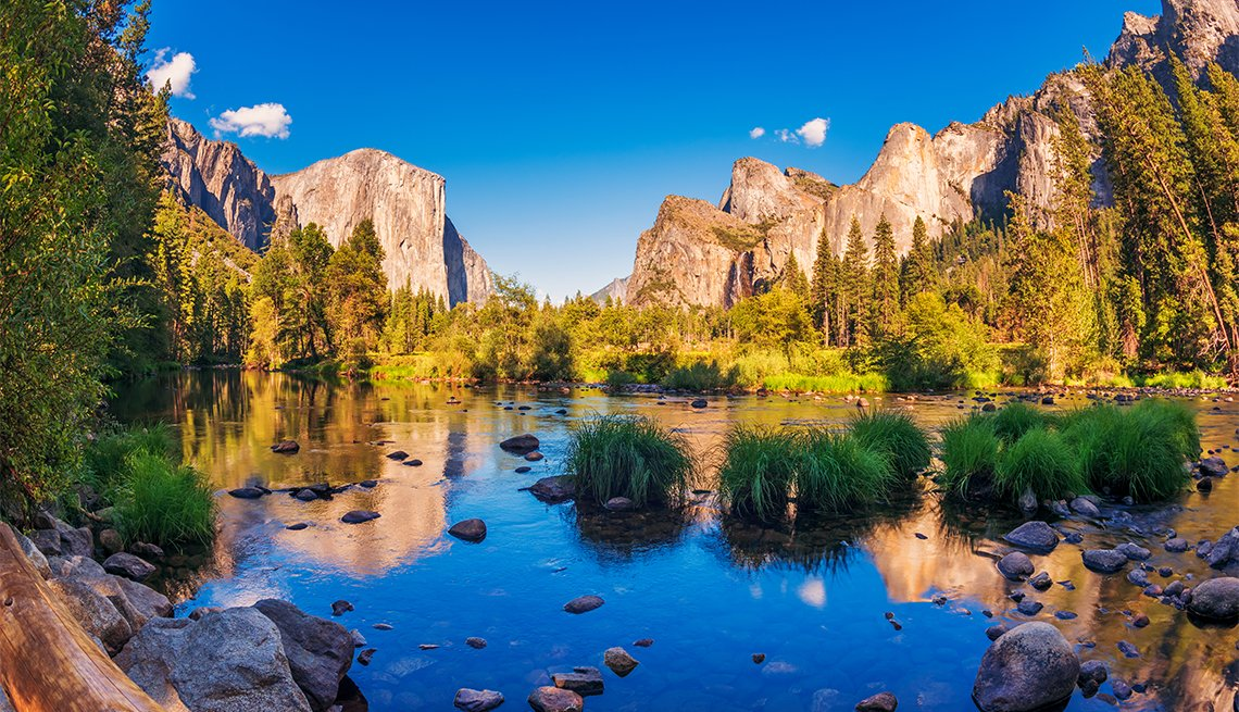 Valley view in Yosemite National Park