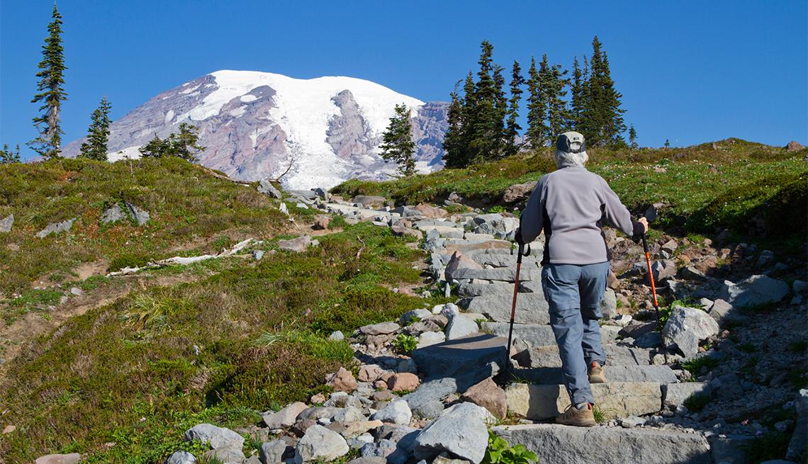 Hiker on Skyline trail