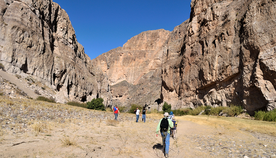 item 4 of Gallery image - Hikers on the trail at Big Bend National Park