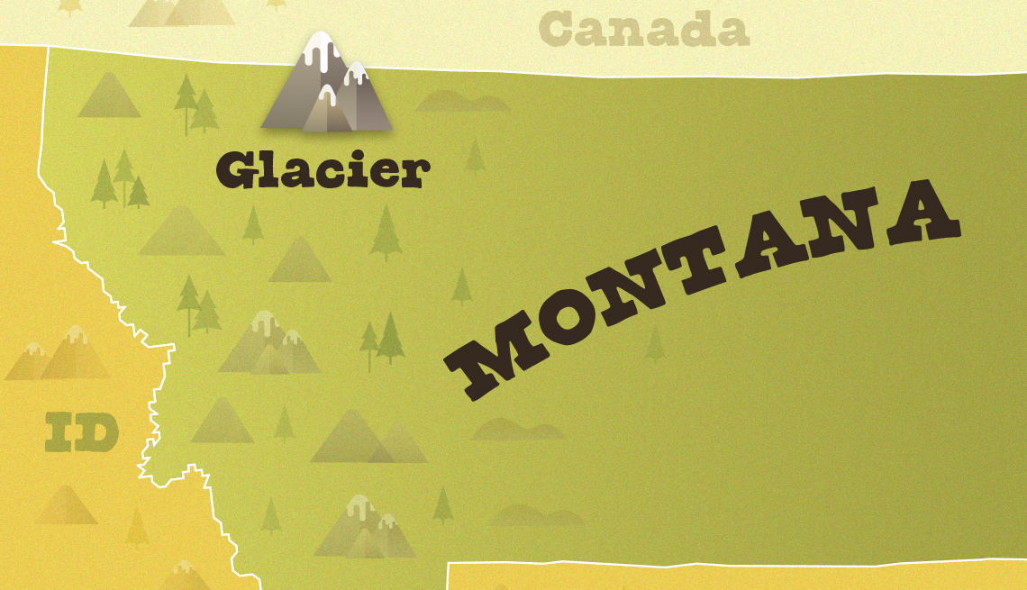 locator map of montana showing where glacier national park is