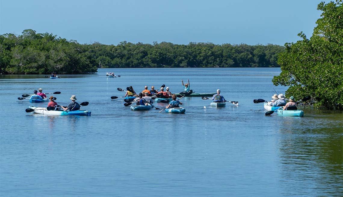 item 10 of Gallery image - kayakers at Ding Darling NWR