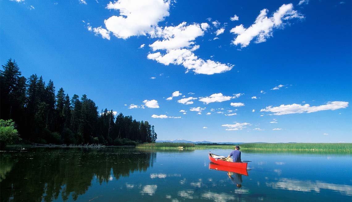 item 3 of Gallery image - canoe at Upper Klamath National Wildlife Refuge