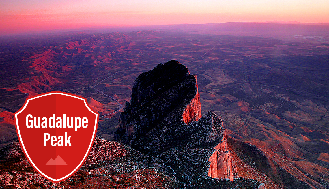 item 3 of Gallery image - sunset turns the landscape pink at guadalupe peak in texas