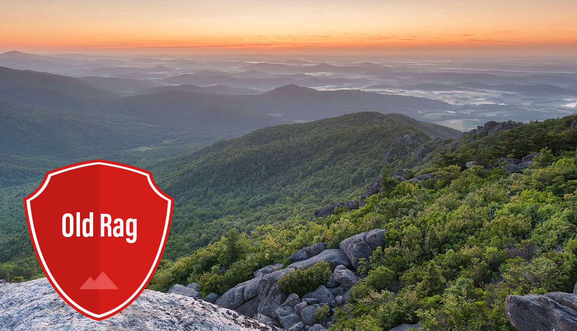 item 7 of Gallery image - view of shenandoah national park at sunrise from the top of old rag