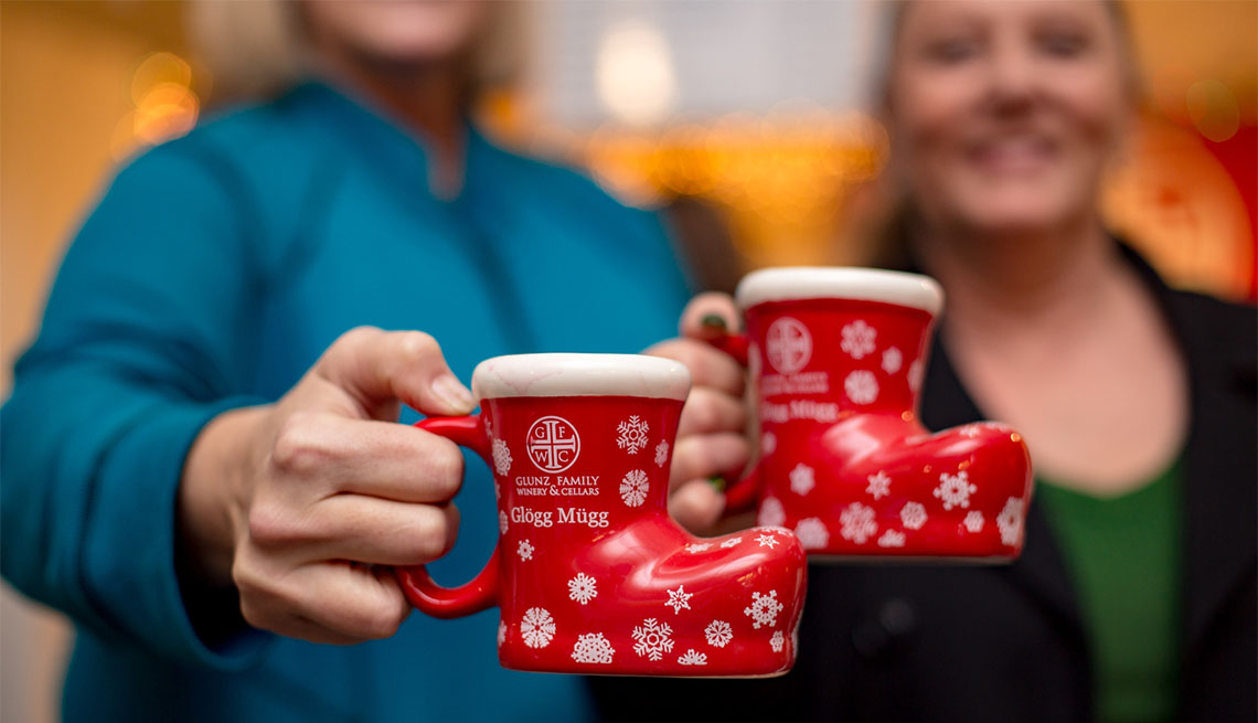 item 9 of Gallery image - Two women displaying mugs a the Old World Market