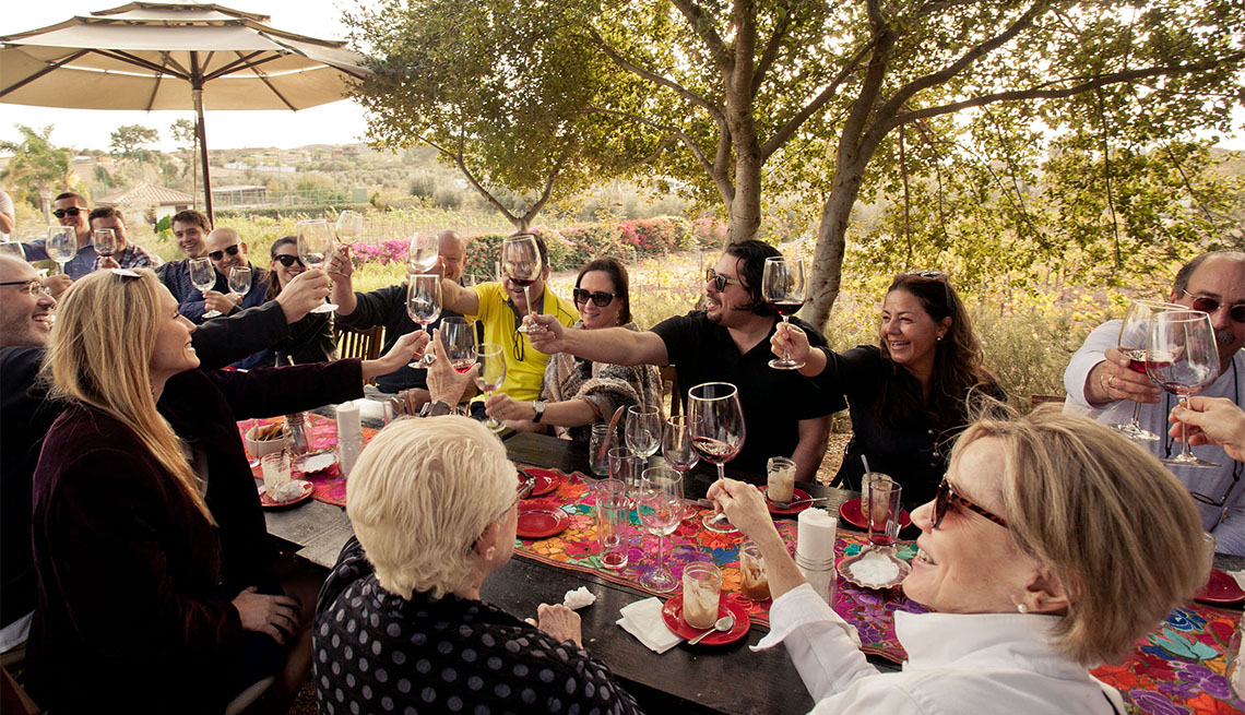 item 8 of Gallery image - table of diners at the San Diego Food & Wine Festival