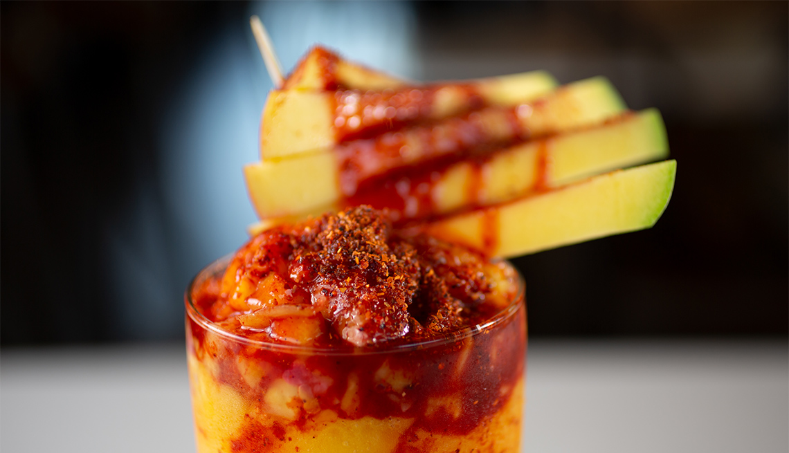 item 5 of Gallery image - A closeup view of a decorated chamango drink
