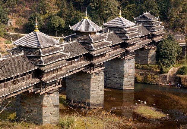 Chengyang Wind y Rain Bridge, Sanjiang County, China, Frommers - Los 10 puentes más hermosos del mundo