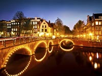 Canals in Amsterdam, The Netherlands