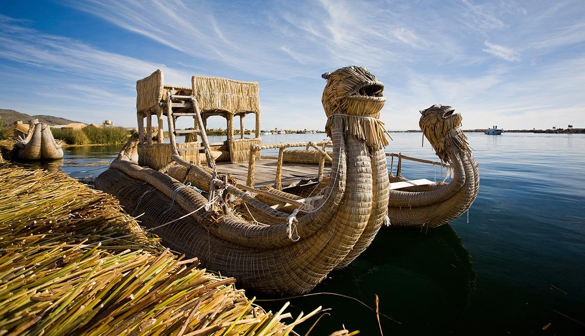 Reed Boat In Puno, Captivating Peru: Inca Trails, Beaches and Gastronomy