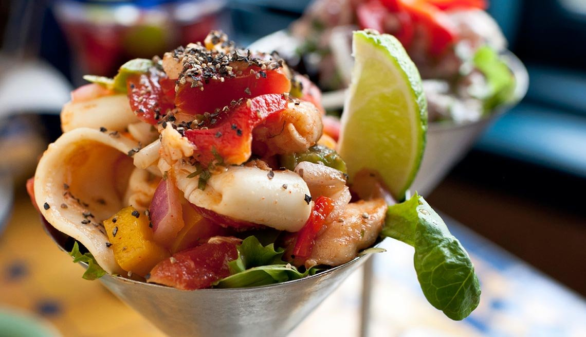 Calamari ceviche, Captivating Peru: Inca Trails, Beaches and Gastronomy