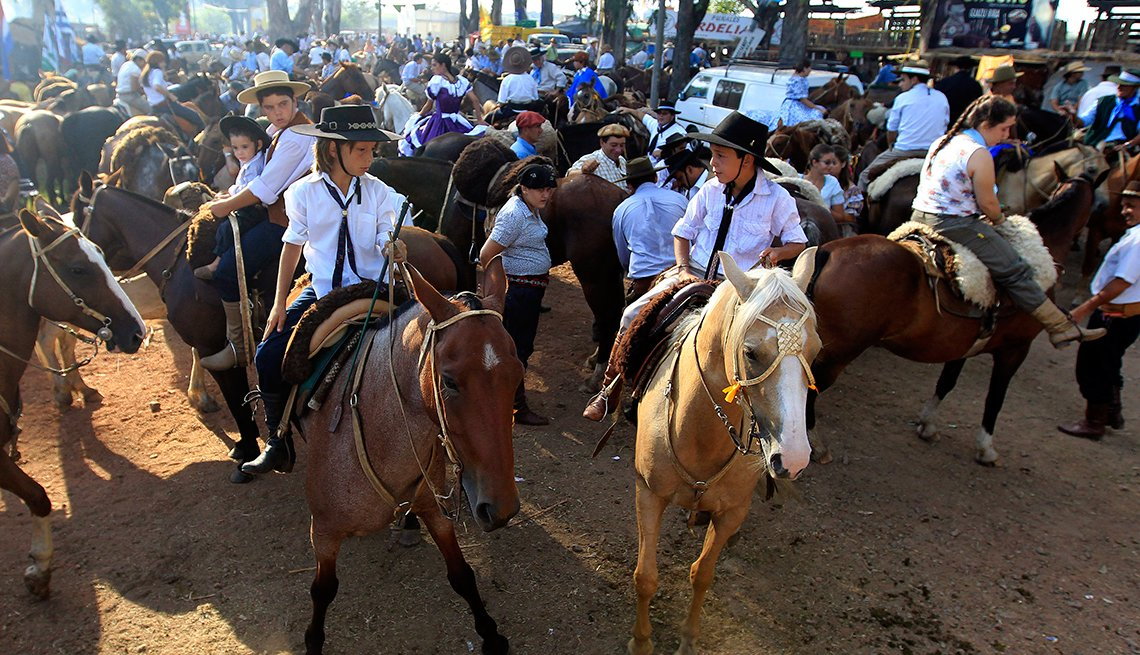patria, gauncha, parade, uruguay