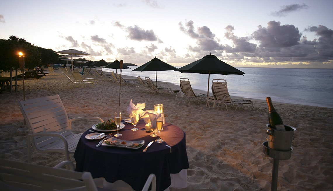 A Table Is Set For A Romantic Private Meal On The Beach In Anguilla, Island Getaways