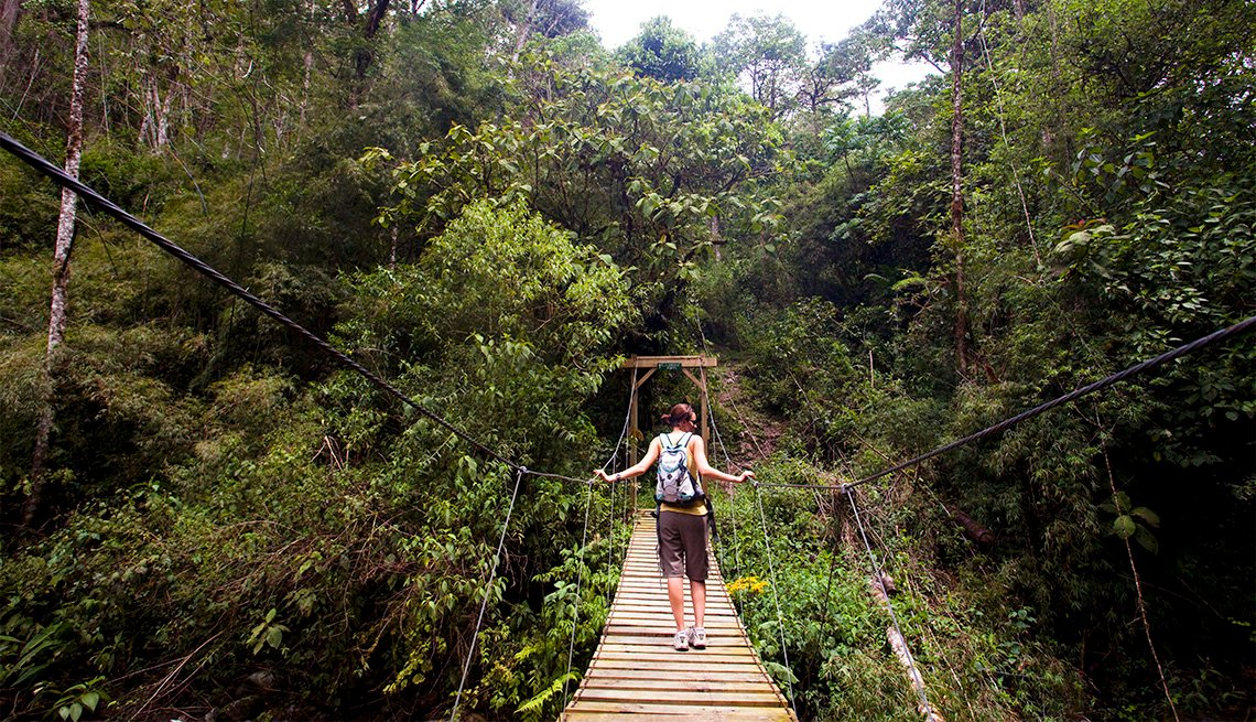 Suspension bridge in Cloudbridge Nature Preserve in Costa Rica, Inspiring Latin American Trips