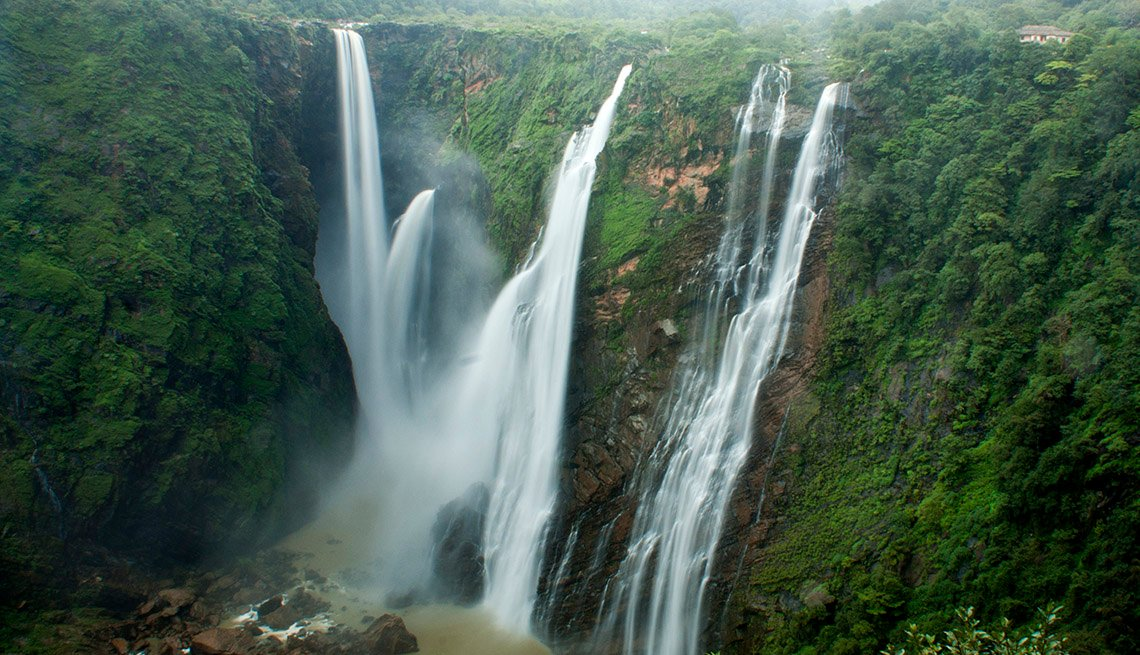 View Of Jog Falls In India, Best International Waterfalls