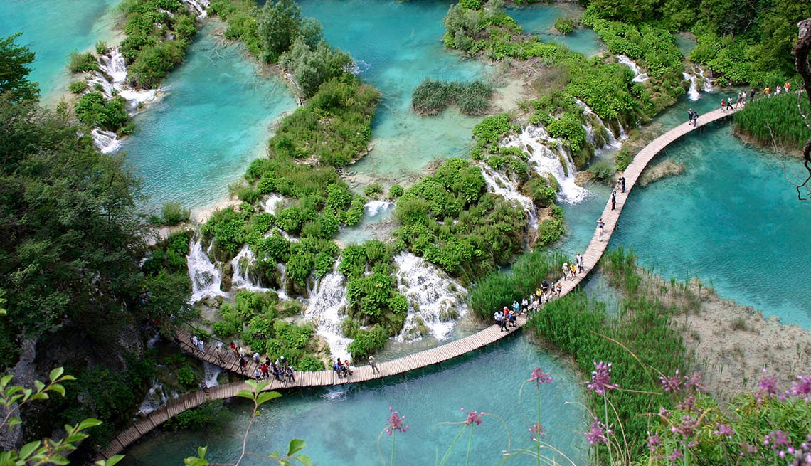 Aerial View Of Plitvice Waterfalls In Croatia, Best International Waterfalls