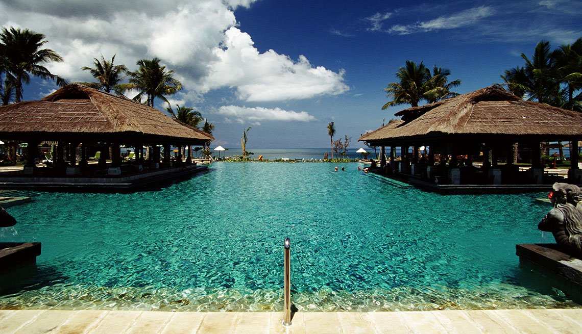 The Pool At Resort In Bali Indonesia, Island Getaways