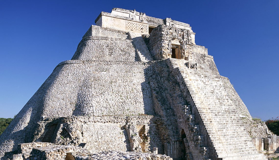 The Staircase Of The Pyramid Of The Magician At Uxmal In Mexico, Great Staircases