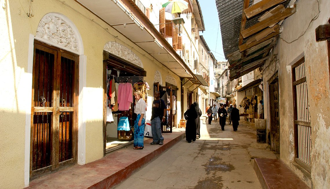 Alleyway And Street Market in Zanzibar Tanzania, Island Getaways