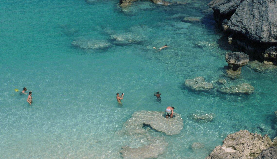 Snorklers in Hamilton Bay off Bermuda, Top International Destinations