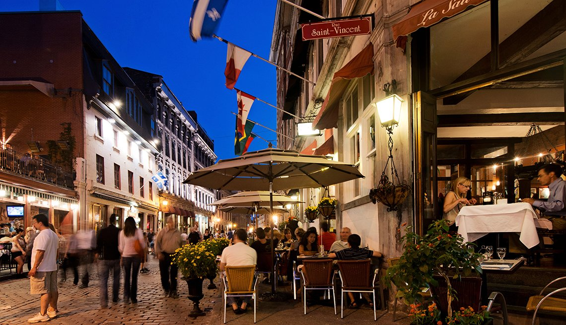Tourists enjoying Rue Saint Paul Street in Old Montreal, Quebec, Canada, Top International Destinations