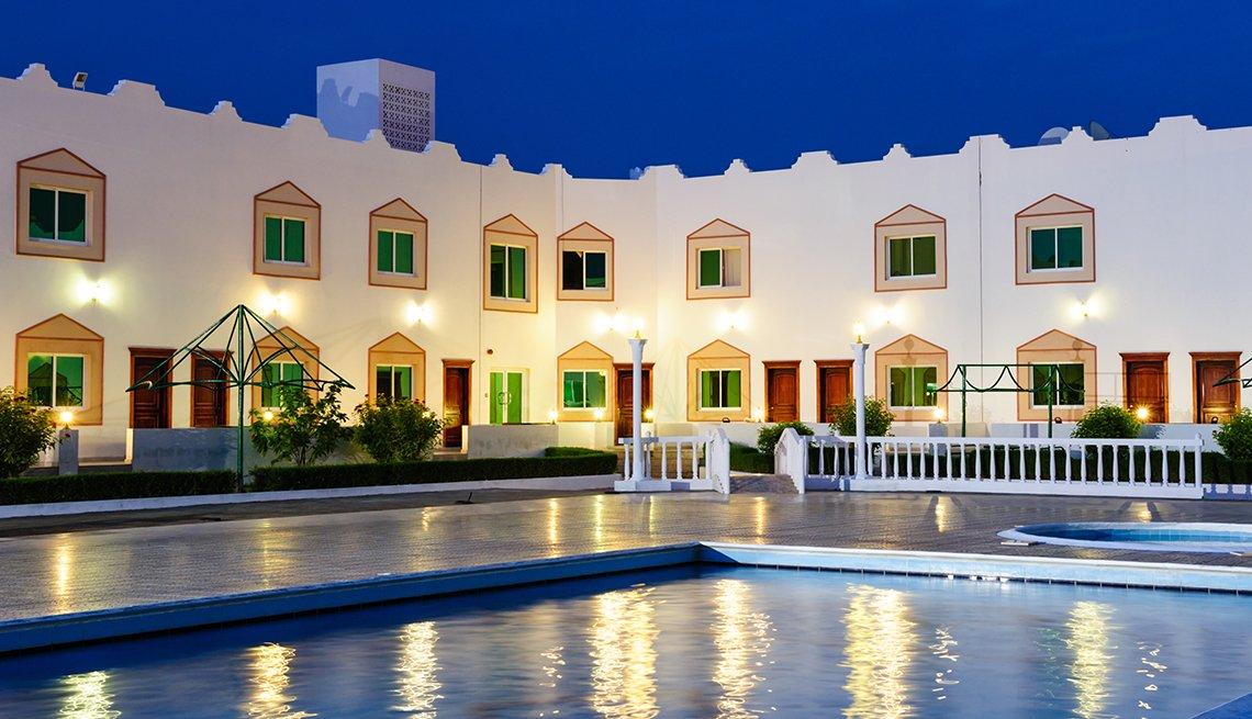 Resort in moonlight in Oman, Top International Destinations
