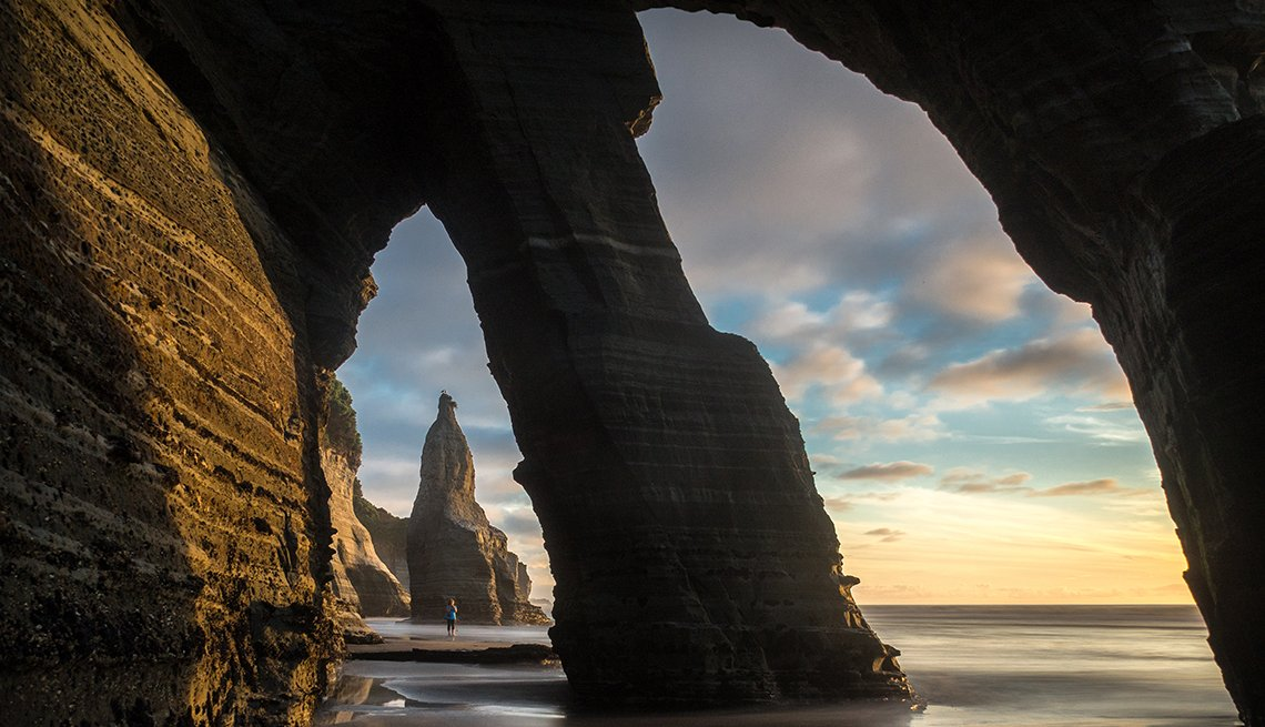 Double Rock Arch on the Taranaki Coast of New Zealand's North Island, Top International Destinations
