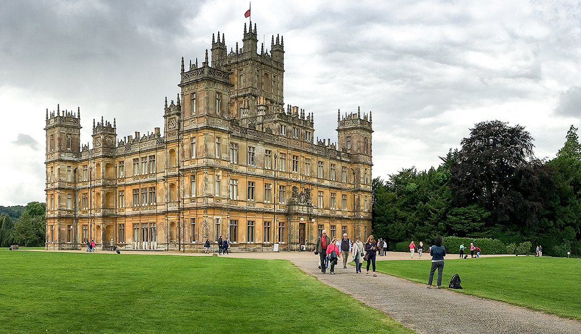 Highclere Castle Setting for Downton Abbey in Hampshire, England, Affordable United Kingdom, Travel